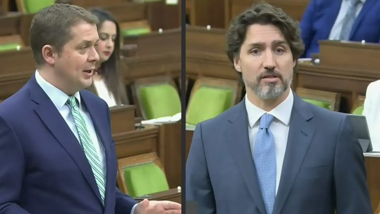 Scheer and Trudeau spar over suspected CERB fraud 1