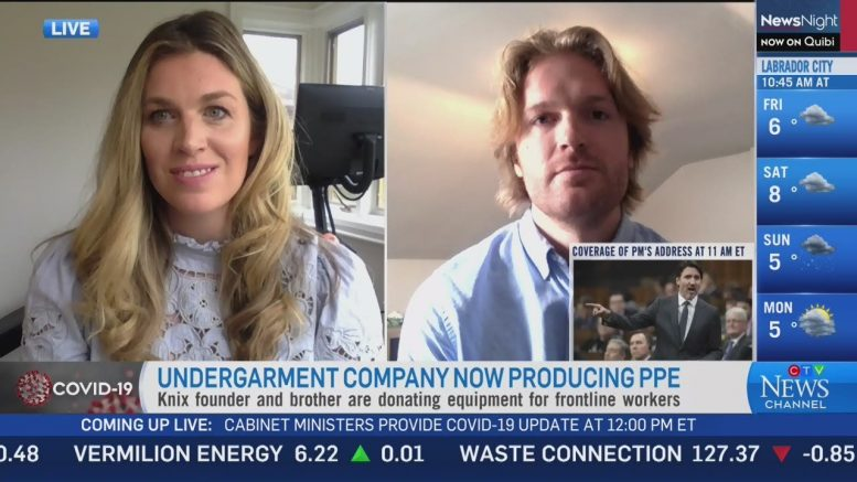 Undergarment company Knix raises almost $500K for PPE 1