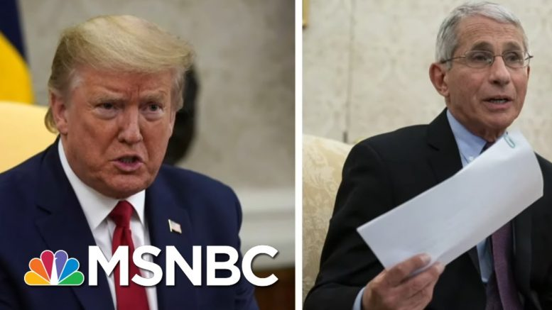 Upset By Fauci's Message On COVID-19, Trump, Right-Wing Media Attack The Messenger | MSNBC 1
