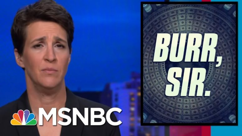 Barr's Track Record Makes Questions About Burr Probe Unavoidable | Rachel Maddow | MSNBC 1