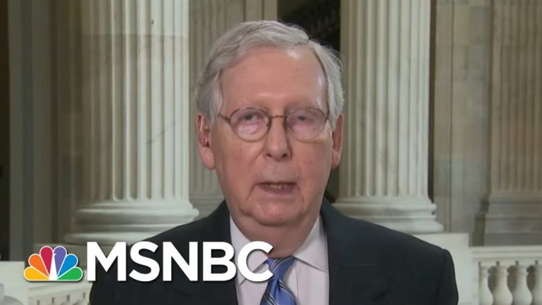 Mitch McConnell Admits He Was Wrong On Pandemic Game Plan | Morning Joe | MSNBC 1