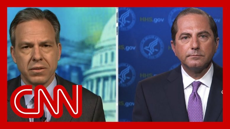 Jake Tapper to Alex Azar: Why was the US hit harder by coronavirus? 1