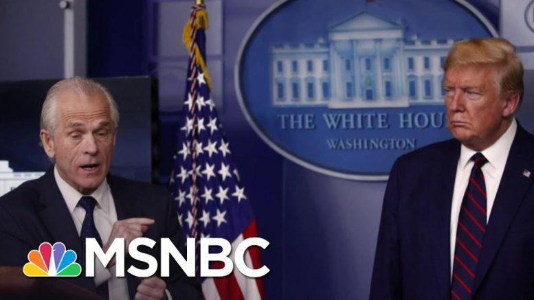 Trump's Glaring Absence On The World Stage As He Blames CDC Dir. For The Crisis | Deadline | MSNBC 1