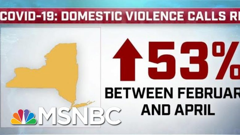 Domestic Violence Calls Surge During The COVID-19 Pandemic | MTP Daily | MSNBC 1