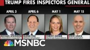 Trump Fires Four Inspectors General In Two Months | All In | MSNBC 5