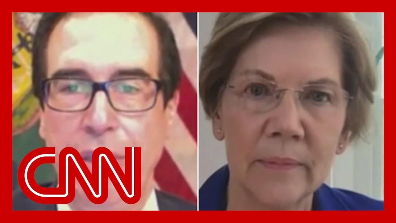 Warren presses Mnuchin on penalties for not protecting jobs 8