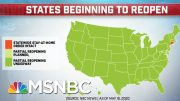 All 50 States Set To Partially Reopen As Number Of COVID-19 Death Surpass 92,000 | MTP Daily | MSNBC 4