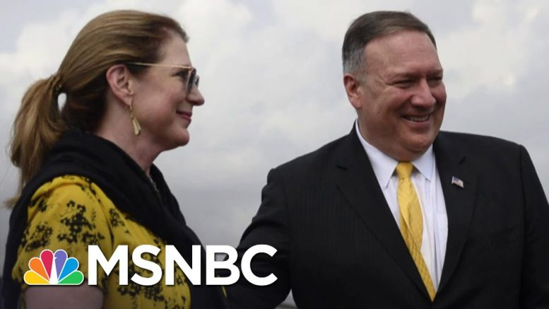 NBC News: Pompeo's Elite Dinners On Taxpayers' Dime Raising Concern | The 11th Hour | MSNBC 1