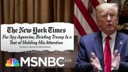 Lengths To Which Trump's Intelligence Team Must Go To Get Him To Pay Attention | Deadline | MSNBC 4