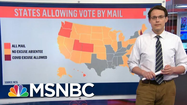 Kornacki Takes A Look At Mail-In Voting By The Numbers | MTP Daily | MSNBC 1