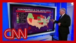 Here's how reported coronavirus cases across the country trended this week 7