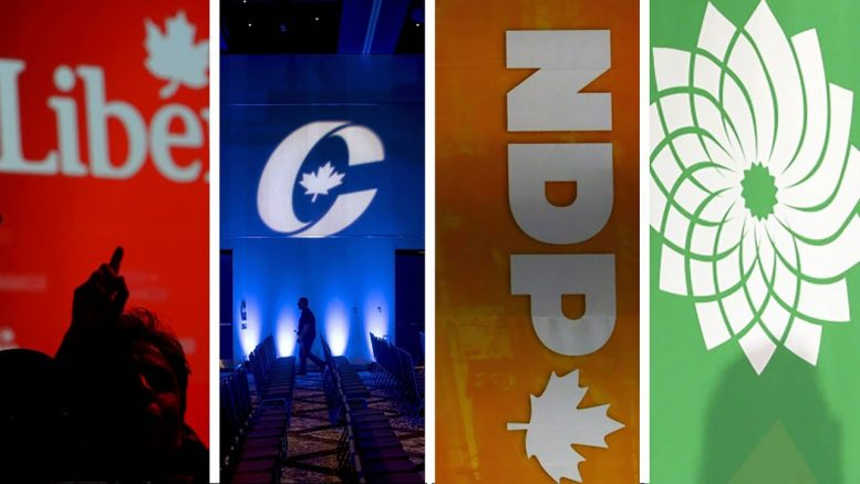 Four major federal parties in Canada apply for wage subsidy 1