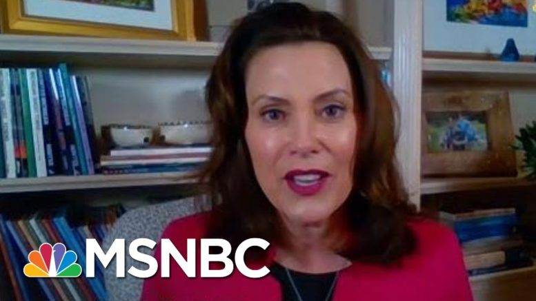 Twin Crises Call For Extraordinary Effort From Michiganders | Rachel Maddow | MSNBC 1