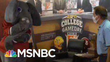 Alabama Coach Nick Saban Wears Mask In New PSA   Morning Joe   MSNBC 10