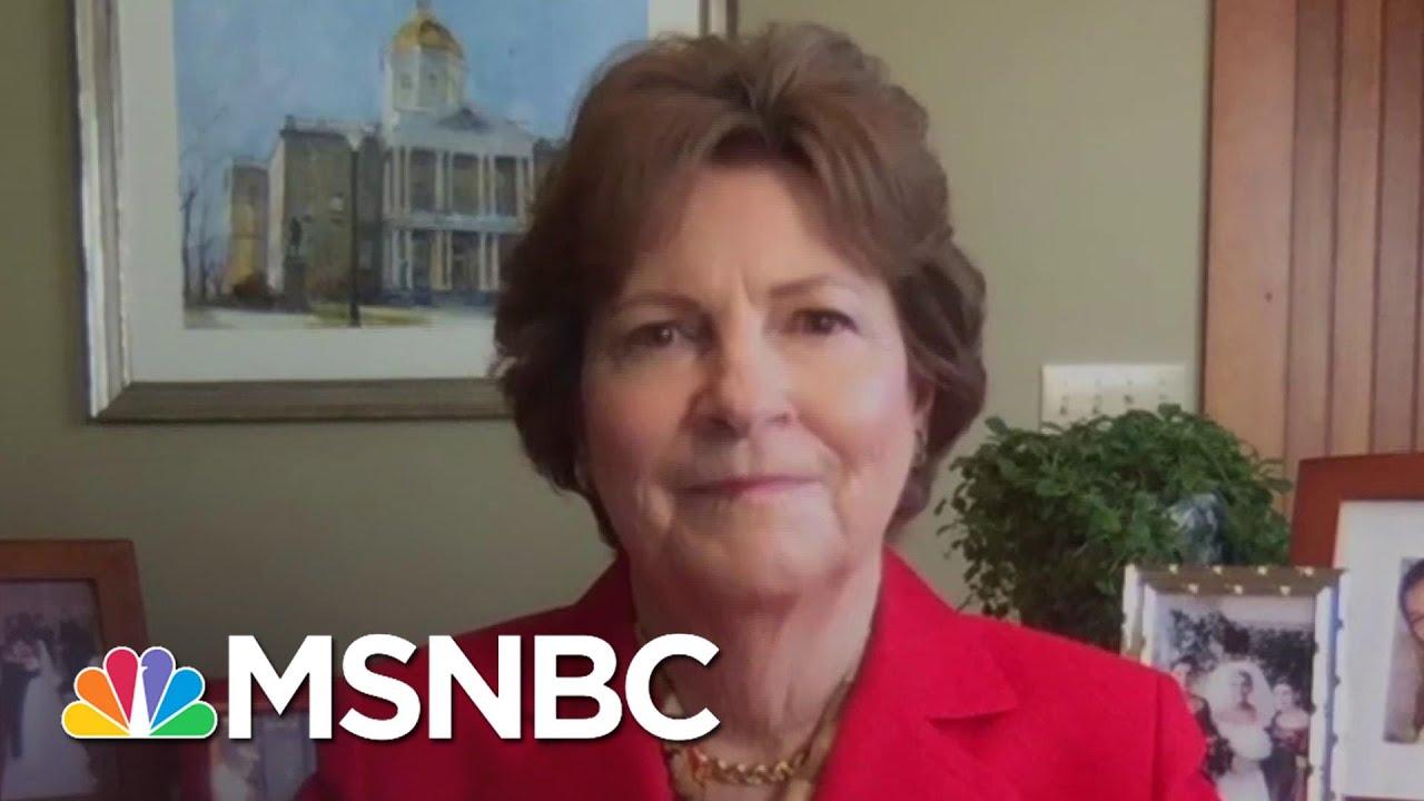 Sen. Jeanne Shaheen: 'I'm Outraged' McConnell Won't Address Relief Bills   Stephanie Ruhle   MSNBC 3