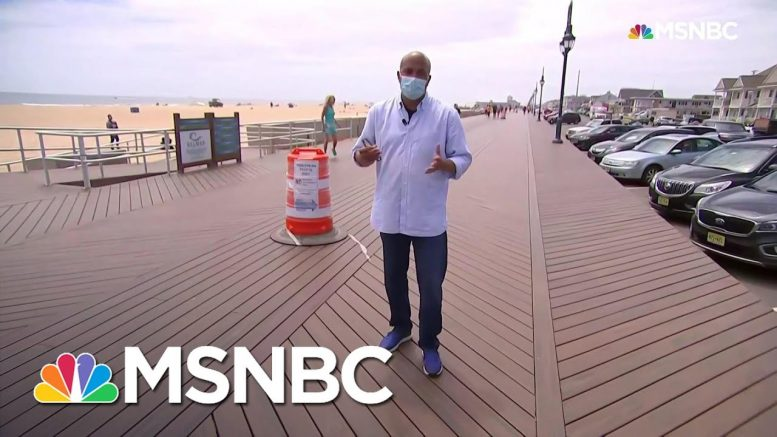Summer Season Kicks Off In A Pandemic Along Jersey Shore | Andrea Mitchell | MSNBC 1