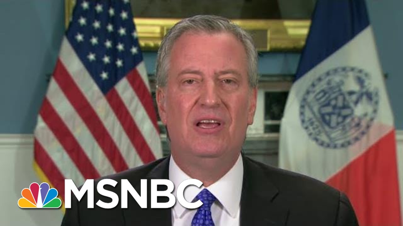 Mayor De Blasio: New Yorkers Now Have To hold The Line   Morning Joe   MSNBC 4