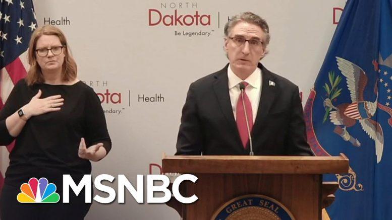 North Dakota Gov. Burgum Makes Emotional Plea On Wearing Face Masks | MSNBC 1