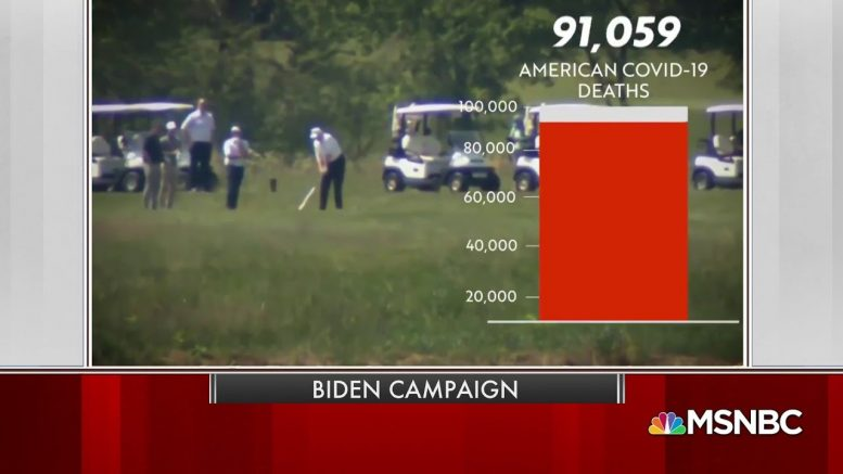 New Biden Ad Slams Trump For Golfing As Death Rate Rises | MSNBC 1