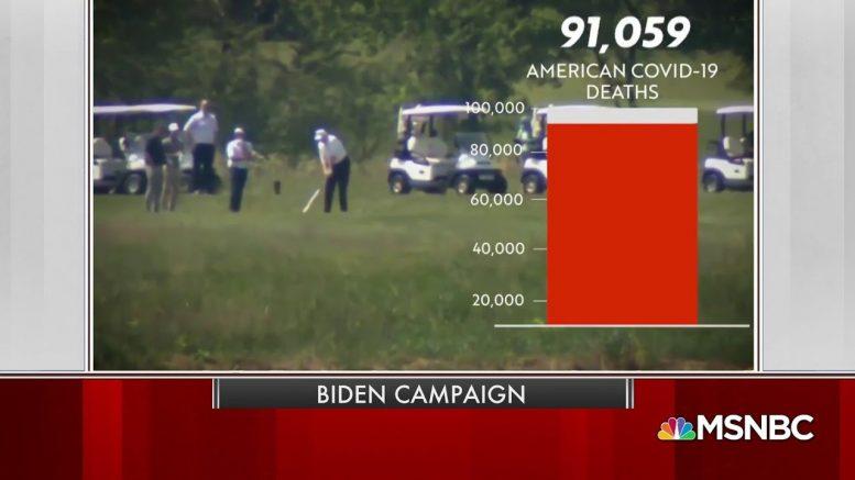 New Biden Ad Slams Trump For Golfing As Death Rate Rises | MSNBC 1