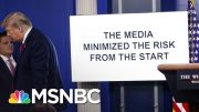 As Unemployment Soars, Trump Ignores Nation's Worries In Combative Briefing | The 11th Hour | MSNBC 2