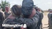 Airman nearly knocks mom over with emotional hug | Militarykind 5