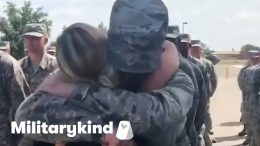 Airman nearly knocks mom over with emotional hug | Militarykind 3