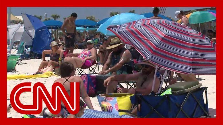 CNN reporter debunks Alabama beachgoers' Covid 19 theories 1