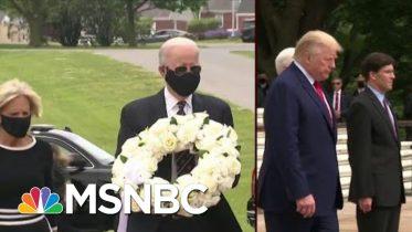 Biden Follows Guidance On Masks; Trump Wears No Mask   Morning Joe   MSNBC 10