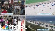 Memorial Day Crowds Raising Concern Amid Pandemic | Morning Joe | MSNBC 4