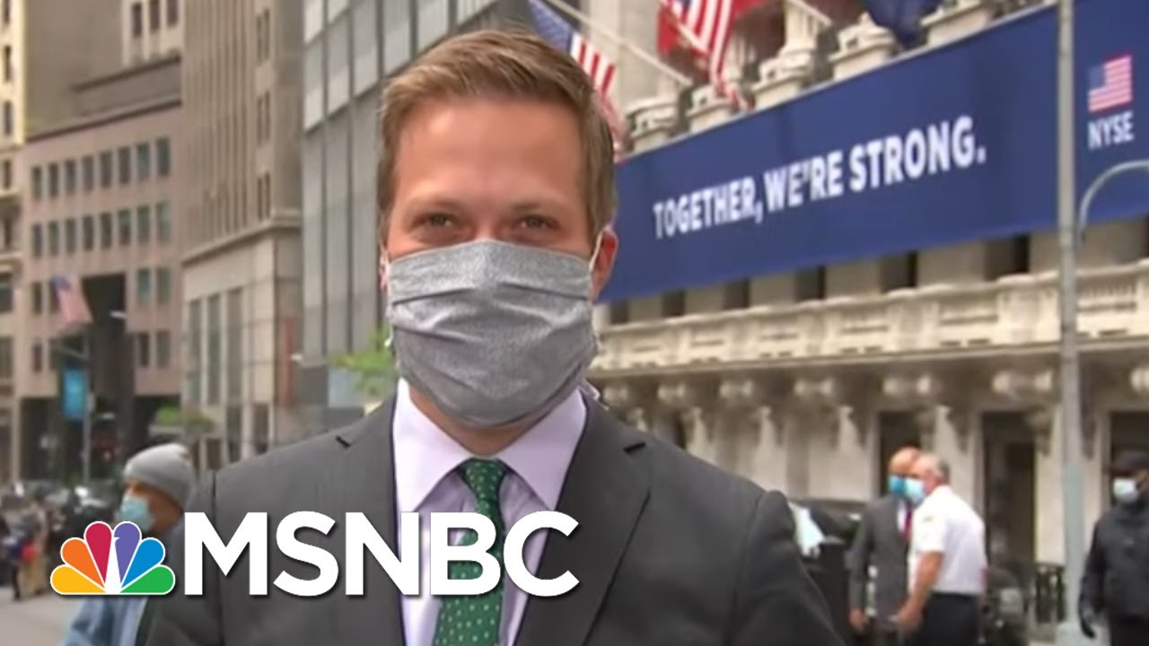 Gov. Andrew Cuomo Rings Bell As NYSE Floor Reopens With New Restrictions   Stephanie Ruhle   MSNBC 9