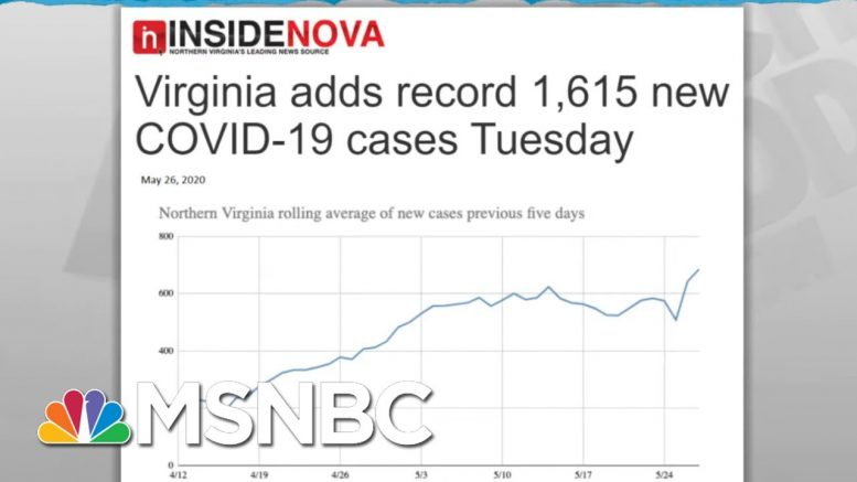 Some States Slow To Understand Dynamics Of Coronavirus Spread | Rachel Maddow | MSNBC 1