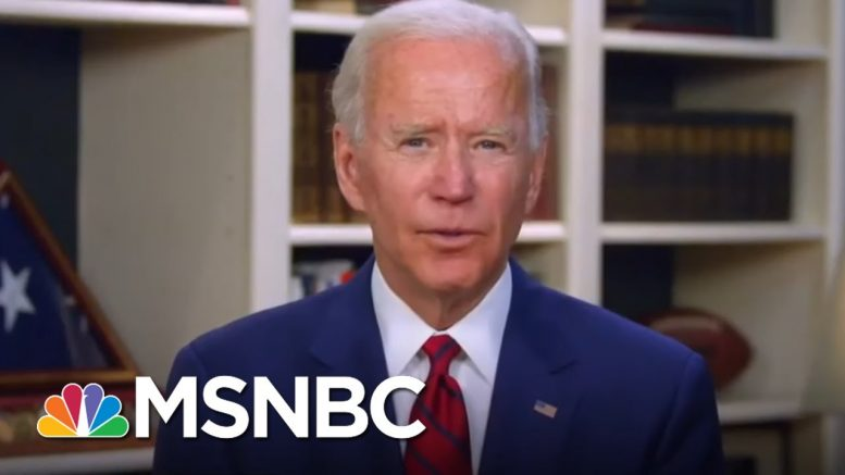 Biden Delivers Eulogy For 100,000 Americans Killed By Coronavirus | All In | MSNBC 1