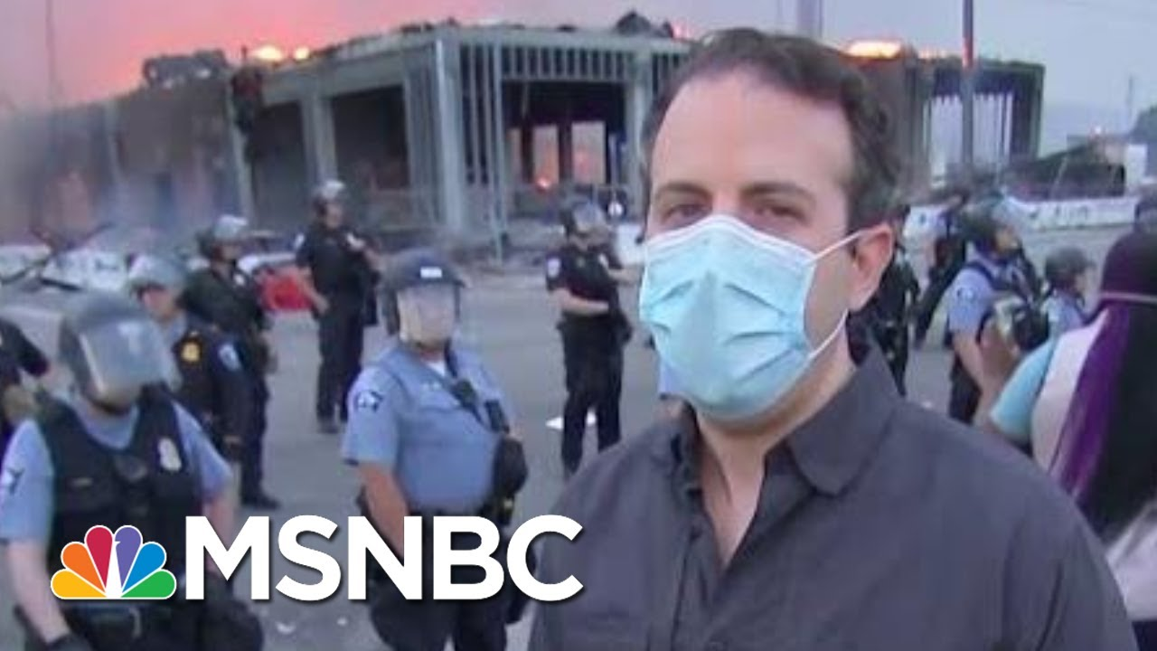 Tension Mounts In Minneapolis As Protesters Clash With Police | Morning Joe | MSNBC 9