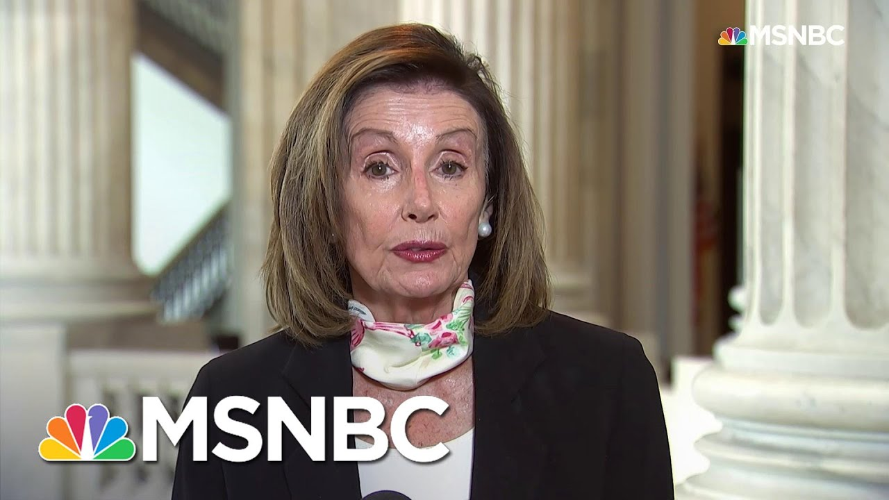 Nancy Pelosi: In Death Of George Floyd, American People 'Saw An Execution'   Andrea Mitchell   MSNBC 5