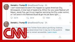 Twitter labels Trump tweet, says it violates platform's rules 1