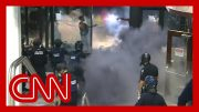 Violent George Floyd protests at CNN Center unfold live on TV 5
