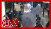 Violent George Floyd protests at CNN Center unfold live on TV 4