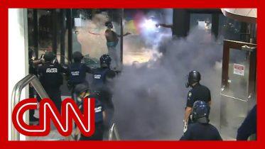 Violent George Floyd protests at CNN Center unfold live on TV 6
