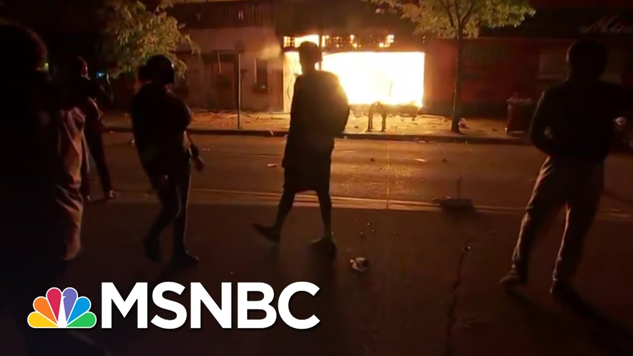 No Police Present As Fires Rage In Minneapolis After Fierce Protests | The 11th Hour | MSNBC 1