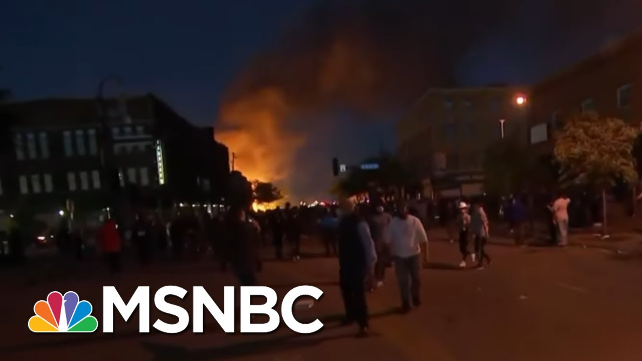 Flames And Tear Gas Break Out At Minneapolis Protest | The Last Word | MSNBC 1