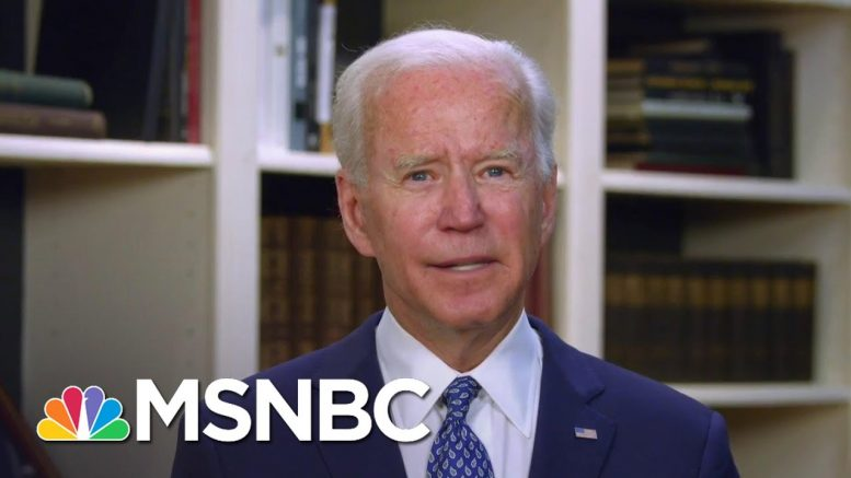 'None Of Us Can Be Silent': Biden Responds To Outrage Over George Floyd's Death | MSNBC 1