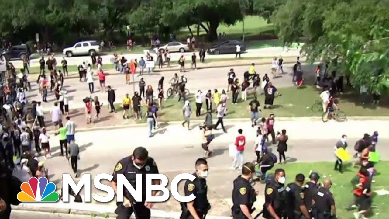 Protests Underway In Houston Where George Floyd Grew Up | MTP Daily | MSNBC 1