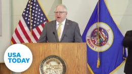 Minnesota Gov. Tim Walz speaks following days of volatile protests in Minneapolis | USA TODAY 8