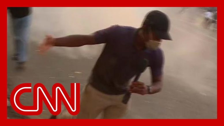 Escalating protests force CNN crew to flee to safety 1
