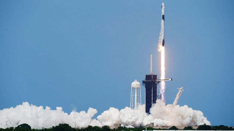 SpaceX rocket lifts off from U.S. in history-making flight 1
