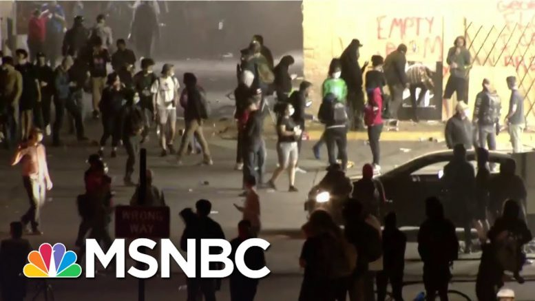 Protesters Clash With Police In Cities Nationwide Over George Floyd's Death | The 11th Hour | MSNBC 1