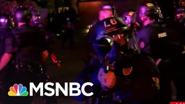 Louisville Police Fire Pepper Bullets At Reporter And Crew   MSNBC 6