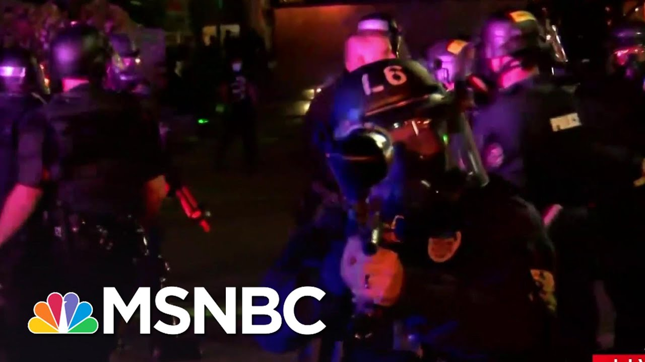 Louisville Police Fire Pepper Bullets At Reporter And Crew   MSNBC 2