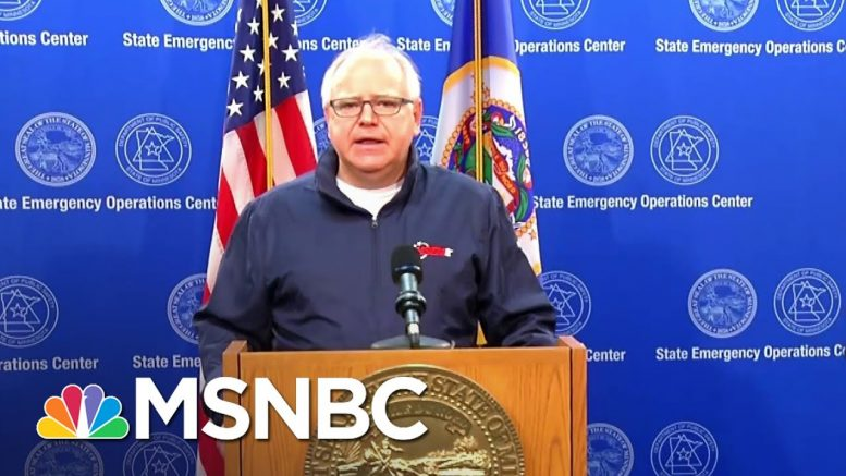 Gov. Walz Calls For Full Mobilization of Minnesota's National Guard | MSNBC 1
